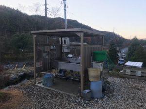 川場キングダムフィッシングの洗い場