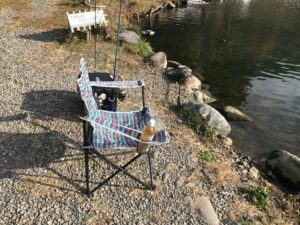 川場キングダムフィッシングのレンタル椅子