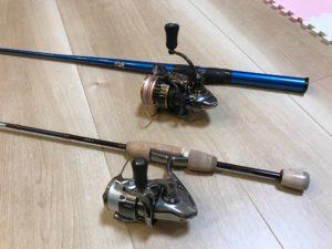 縦釣りと横釣りタックル