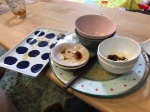 食べ終わった後の食器
