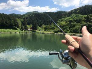 管釣りで熱中症対策