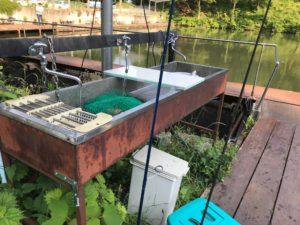 つくば園の洗い場