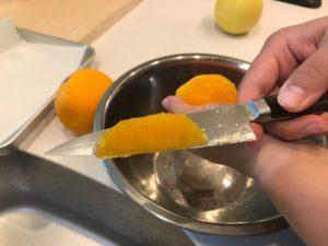 グレープフルーツのカルチェ剥き