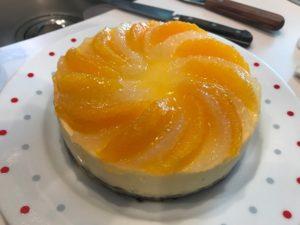 グレープフルーツのチーズケーキ
