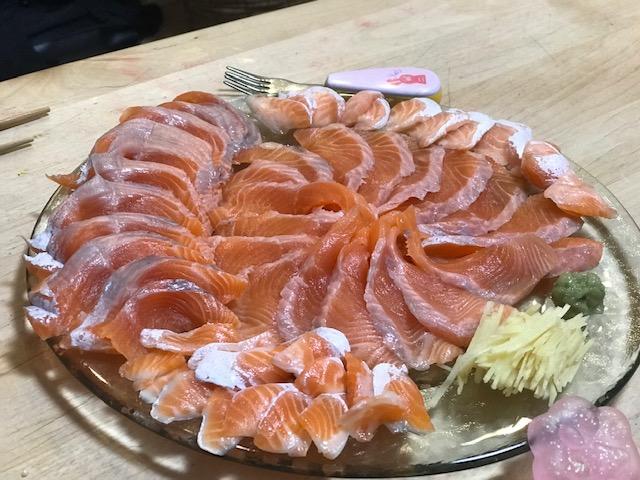 頂鱒&ヤシオマス食べ比べ